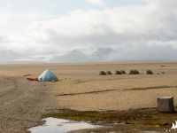 Bjonahamna i obóz kajakarzy