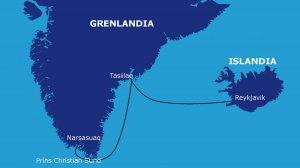 Trasa rejsu: Islandia - Tasiilaq - Prins Christian Sund - Narsasuaq (900 Mm)