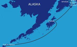 Trasa rejsu: Dutch Harbor - Kodiak - Prince William Sound - Whittier (850 Mm)
