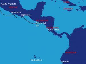 Trasa rejsu: Puerto Valarta - Acapulco - Hautulco – Bahia del Sol (1200Mm)